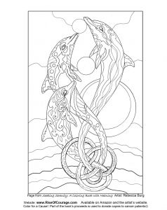 Coloring Pages Of Cancer Ribbons - Stars Coloring Pages Free Coloring Page Dolphin Ocean Sea Life From the Seeking Serenity 9n