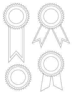 Coloring Pages Of Cancer Ribbons - Award Ribbon Template Hune Pany 20n