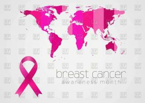 Coloring Pages Of Cancer Ribbons - Breast Cancer Awareness Pink Ribbon and World Map Vector Image – Vector Artwork Of Signs to 14n