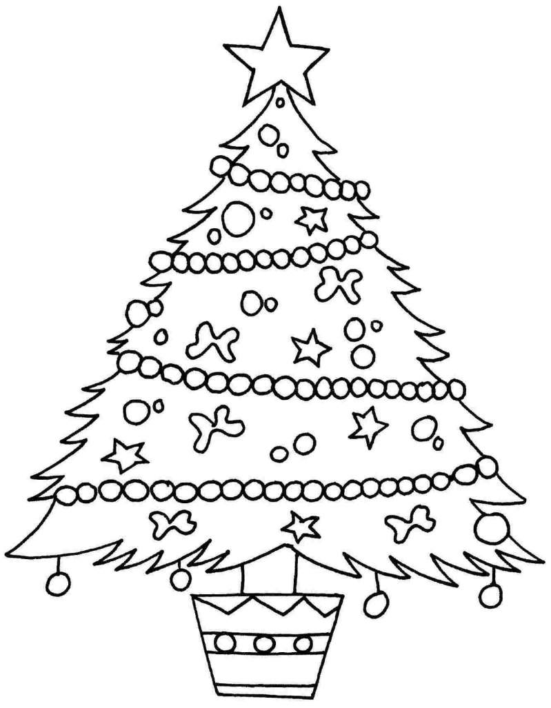 Coloring Pages Of Christmas Trees - Christmas Tree Star Coloring Page 6q