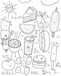 Coloring Pages Of Food - Food Coloring Pages for Kindergarten Lovely Summer Activities Coloring Pages Summer Printable Coloring Pages 8b