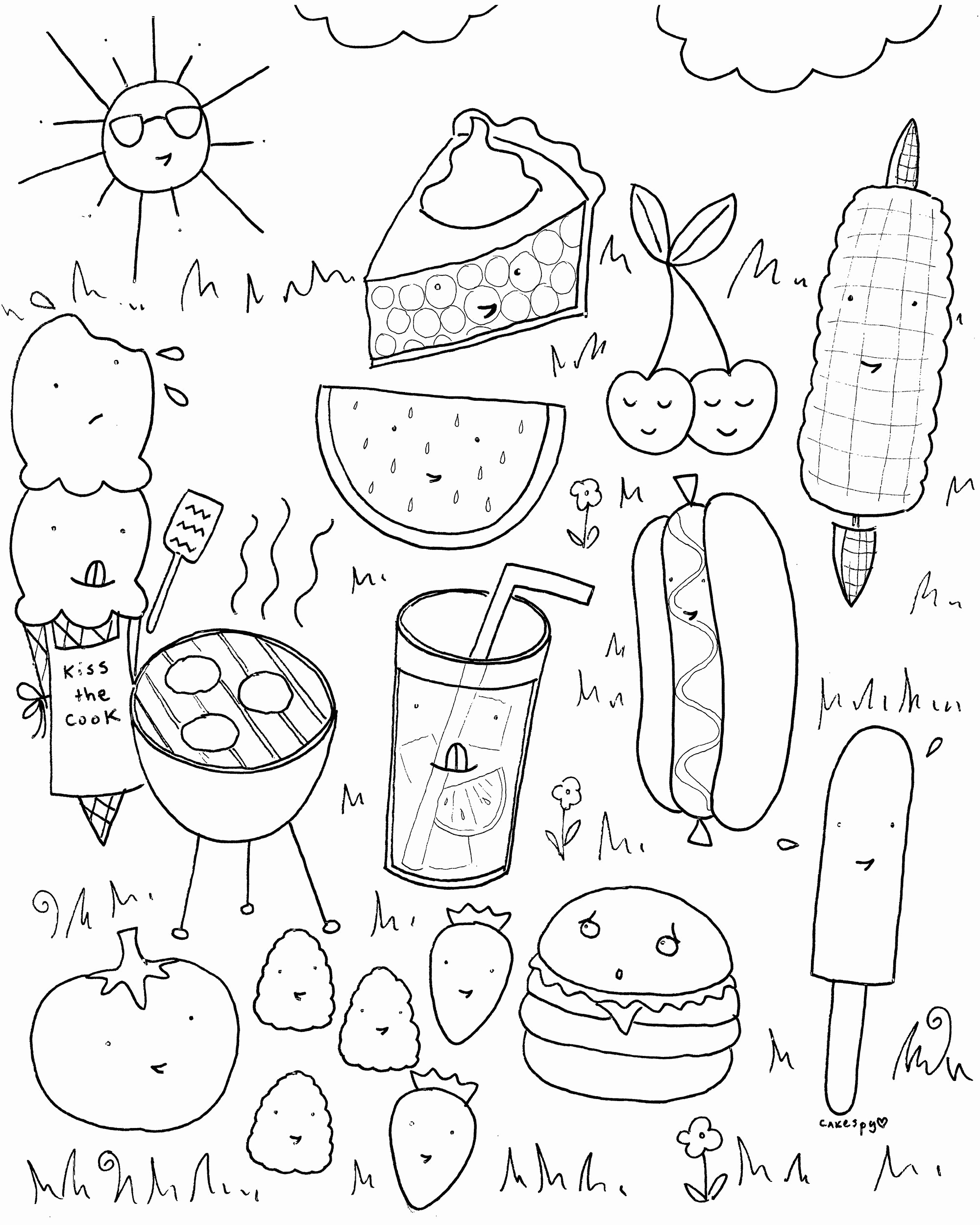coloring pages of food Collection-Food Coloring Pages for Kindergarten Lovely Summer Activities Coloring Pages Summer Printable Coloring Pages 6-k