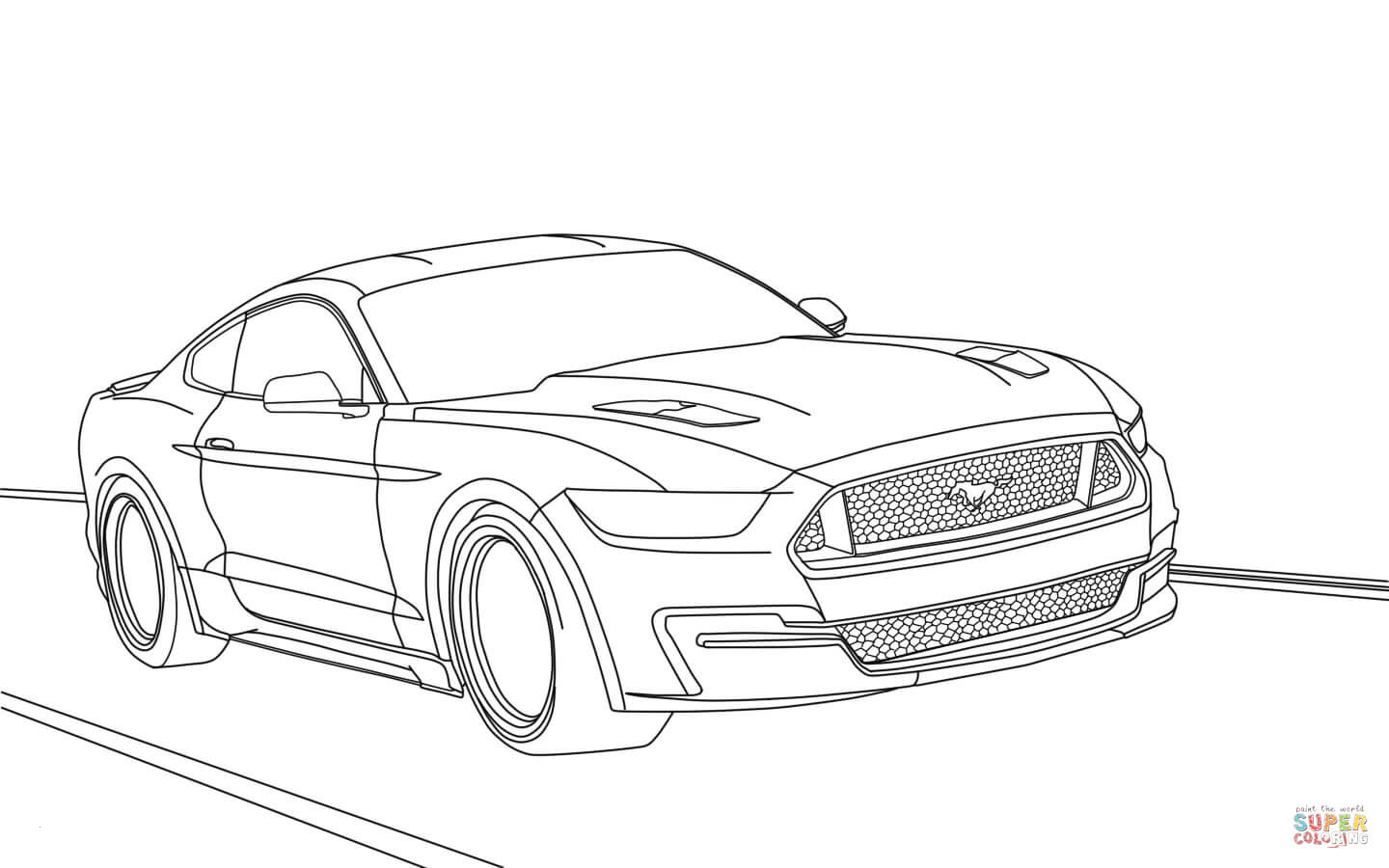 19 Coloring Pages Of Ford Mustangs Download Coloring Sheets