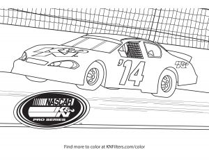 Coloring Pages Of Sports Cars - K&n Pro Series K&n Printable Coloring Page 1s