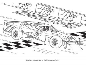 Coloring Pages Of Sports Cars - Modified Race Car K&n Printable Coloring Page 14e
