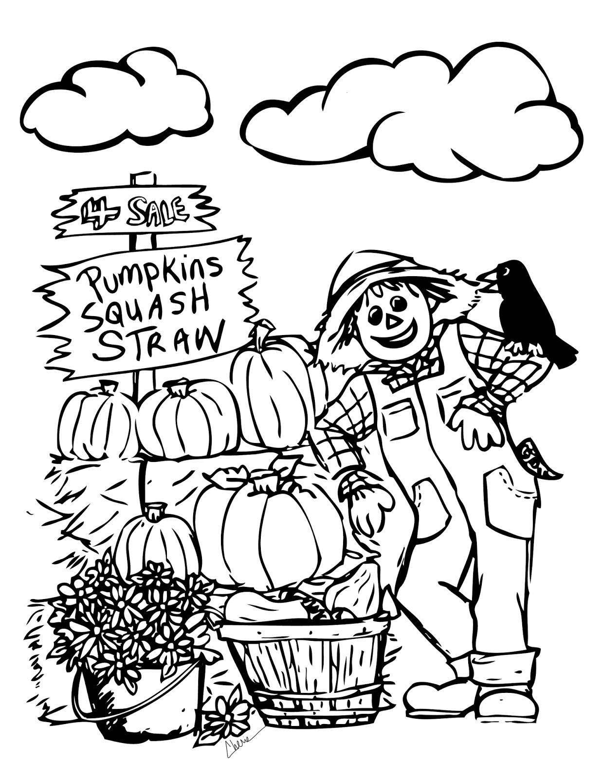 Fall Coloring Pages Printable Templates Www Bilderbeste Com