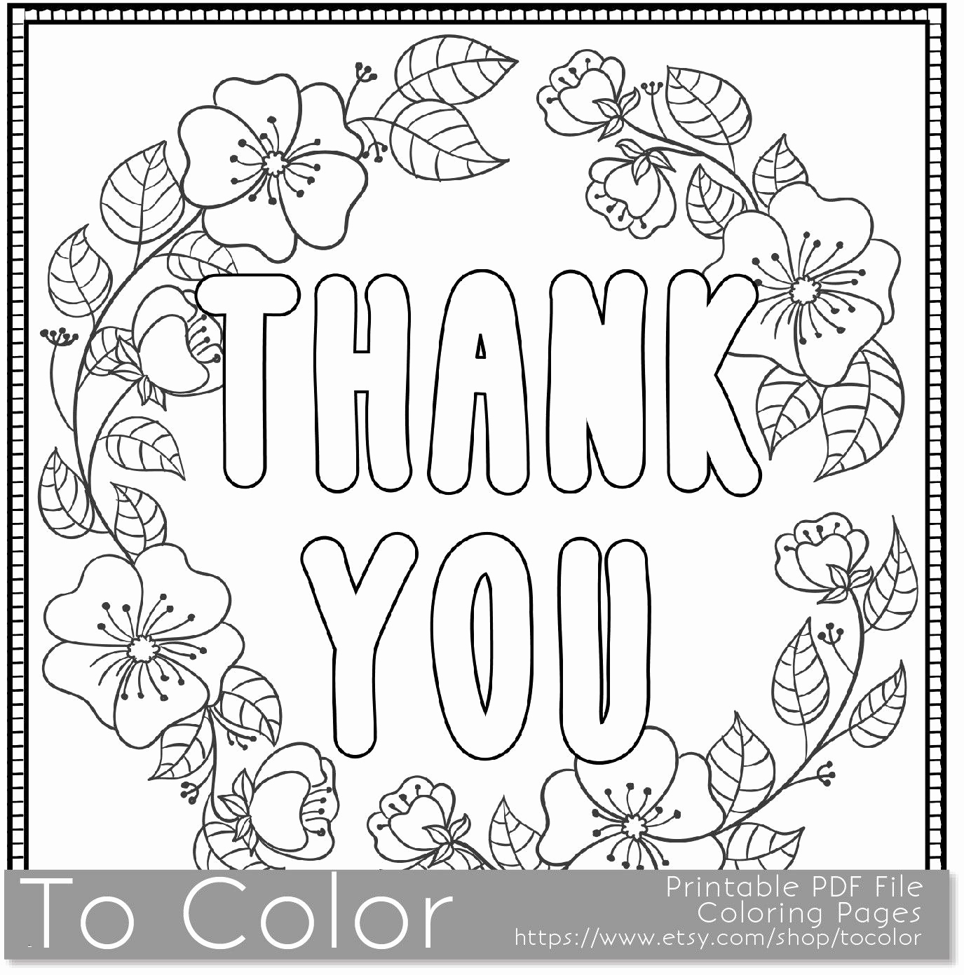 30 Coloring Pages Thank You Cards Collection Coloring Sheets
