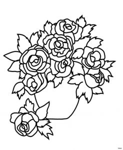 Coloring Pages that You Can Color On the Computer - Cool Vases Flower Vase Coloring Page Pages Flowers In A top I 0d 10q