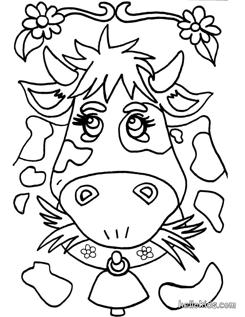 coloring pages that you can color online Collection-Go green and color online this Cow coloring page Cute and amazing farm animals coloring page for kids More coloring sheets on hellokids 5-j