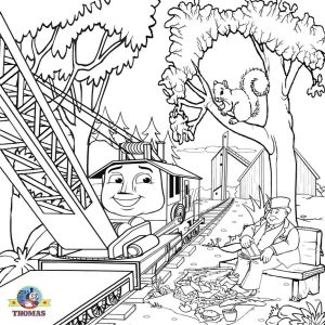Coloring Pages Thomas the Train - Thomas Train Coloring Pages Happy Thomas the Train Coloring Page Pages for Children 3189 15d