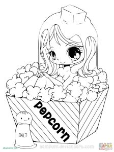 Coloring Pages to Color - A Coloring Pages Cute Anime Chibi Girl Coloring Pages Lovely Witch Coloring Page 18s
