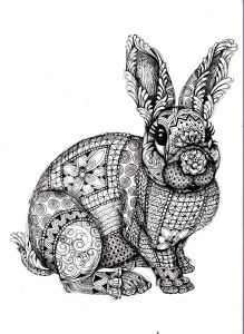 Complicated Animal Coloring Pages - to Print This Free Coloring Page Coloring Adult Difficult Rabbit 14j
