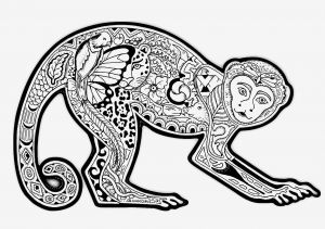 Complicated Animal Coloring Pages - Difficult Coloring Pages Amazing Advantages Free Coloring Page Coloring Difficult Monkey A Coloring Page with A 8b