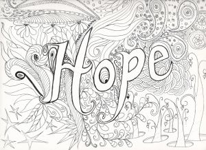 Complicated Coloring Pages to Print - Color Our Hope Postcard and Send to 14k