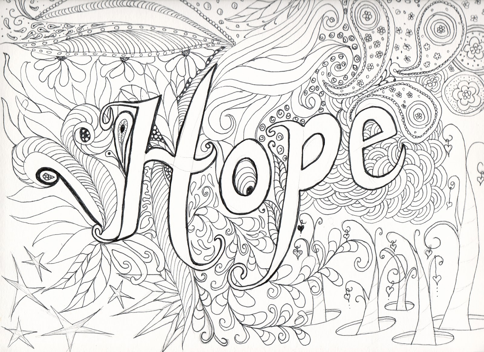complicated coloring pages to print Collection-Color our HOPE postcard and send to 13-n