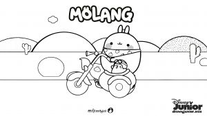 Cooking Coloring Pages - Molang Colouring Page 2 15c