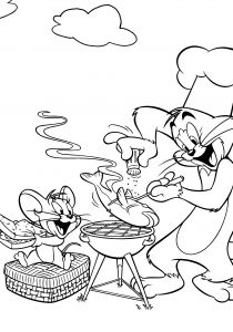 Cooking Coloring Pages - tom and Jerry Was Cooking Fish Coloring Pages Schön Malvorlagen tom Und Jerry 13c