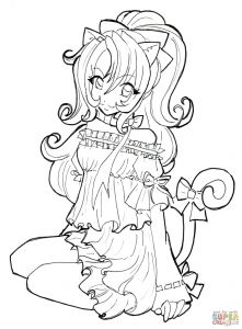 Cute Anime Coloring Pages - Chibi Coloring Pages Inspirational Cute Anime Chibi Girl Coloring Pages Best Witch Coloring Page Chibi 17c