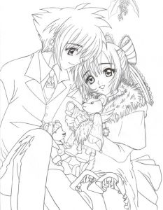 Cute Anime Coloring Pages - Premium Christmas Anime Coloring Pages 1 Couple Colouring 12o