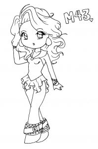 Cute Anime Coloring Pages - Anime Girl Chibi Coloring Pages 14k