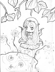 Cute Anime Coloring Pages - Anime Chibi Boy Coloring Pages 12d