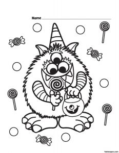 Cute Halloween Coloring Pages for Kids - Halloween Coloring Pages Printable Free Capricus Me Throughout to Print 7c