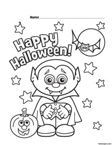 Cute Halloween Coloring Pages for Kids - Halloween Little Vampire Printabel Coloring Pages 19q
