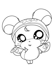 Cute Halloween Coloring Pages for Kids - Hamtaro Okini Cute Hamtaro Coloring Pages Einzigartig Malvorlagen Obst 13q