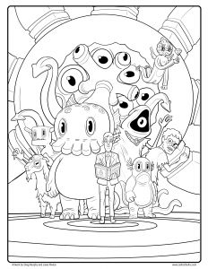 Cute Halloween Coloring Pages for Kids - Free C is for Cthulhu Coloring Sheet 15q