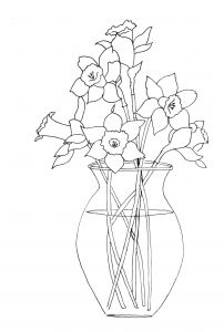 Daffodils Coloring Pages - How to Paint Daffodils Just Paint It Blog Daffodils Flower Patterns Coloring Books 6q