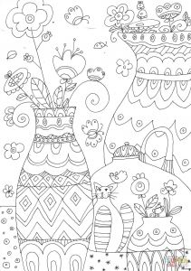 Daffodils Coloring Pages - Hawk Coloring Pages 10f