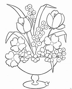 Daffodils Coloring Pages - Bunch Flowers Coloring Pages Free Printable Pages Luxury Cool Vases Flower Vase Coloring Page 1i