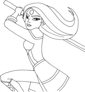 Dc Comics Coloring Pages - Free Printable Super Hero High Coloring Page for Katana E Of My Favorite Actually I Love All Of them 11t