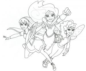 Dc Comics Coloring Pages - Free Printable Coloring Page for Dc Super Hero Girls Supergirl Wonder Woman and Batgirl 17j