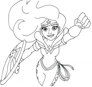 Dc Comics Coloring Pages - Free Printable Super Hero High Coloring Page for Wonder Woman More are Ing I Ll Keep This Post Updated Have Fun 18a