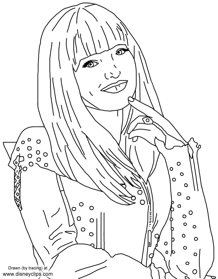 24 Descendants 2 Coloring Pages Collection - Coloring Sheets