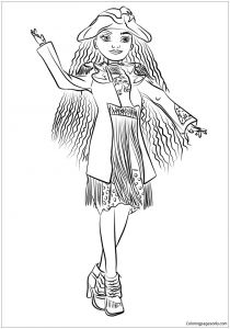 Descendants 2 Coloring Pages - Coloring Pages for Descendants Copy Uma From Page Free Line Wicked 18c