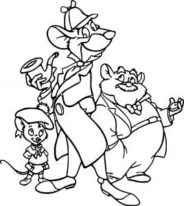 Detective Coloring Pages - Basil Coloring Page the Great Mouse Detective Coloring Pages Coloring 17a