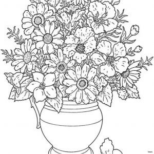 Diamond Coloring Pages - Picture Flowers In Vases Stock Cool Vases Flower Vase Coloring Page Pages Flowers In A 1d