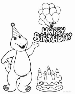 Dinosaurs Coloring Pages - Obsession Barney Dinosaur Coloring Pages Free Printable for Kids Cool2bkids 18o