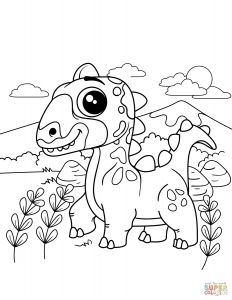 Dinosaurs Coloring Pages - Coloring Pages Detail 20h