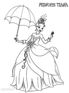 Disney Villains Coloring Pages - Printable Princess Tiana Coloring Pages for Kids 13l