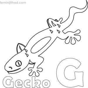 Donkey Ollie Coloring Pages - Free Gecko Coloring Page 9b