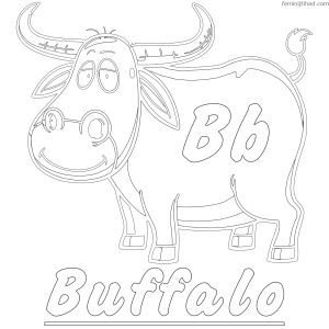 Donkey Ollie Coloring Pages - Free Buffalo Coloring Pages to Print 2p