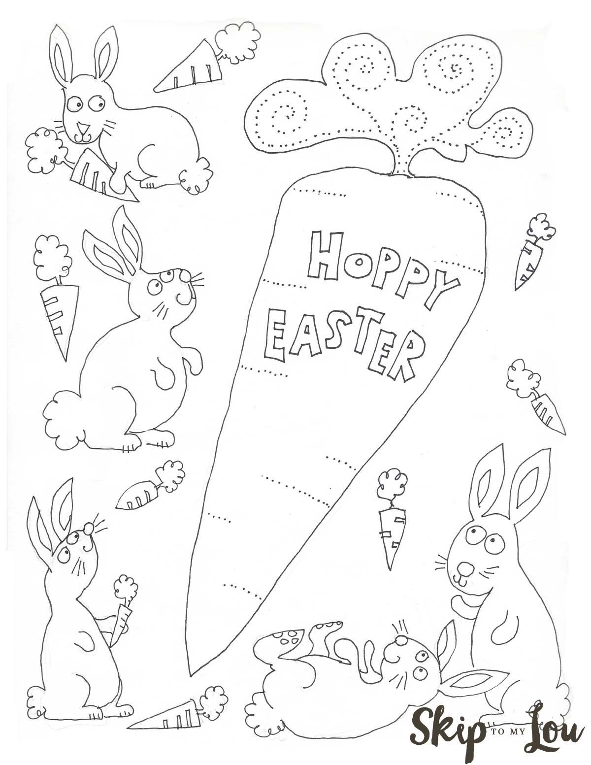 easter coloring pages activities Collection-Free Printable Bunnies Coloring Page for Easter Perfect for the children s table 10-e