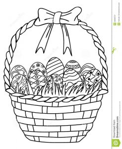 Easter Egg Coloring Pages for toddlers - Basket Of Easter Eggs Outline Coloring Page 16e