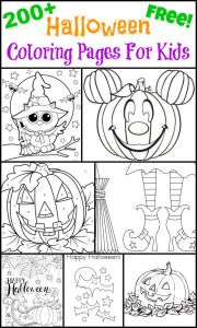 Easy Halloween Coloring Pages - 200 Free Halloween Coloring Pages for Kids the Suburban Mom Printables Clipart Pinterest 8t