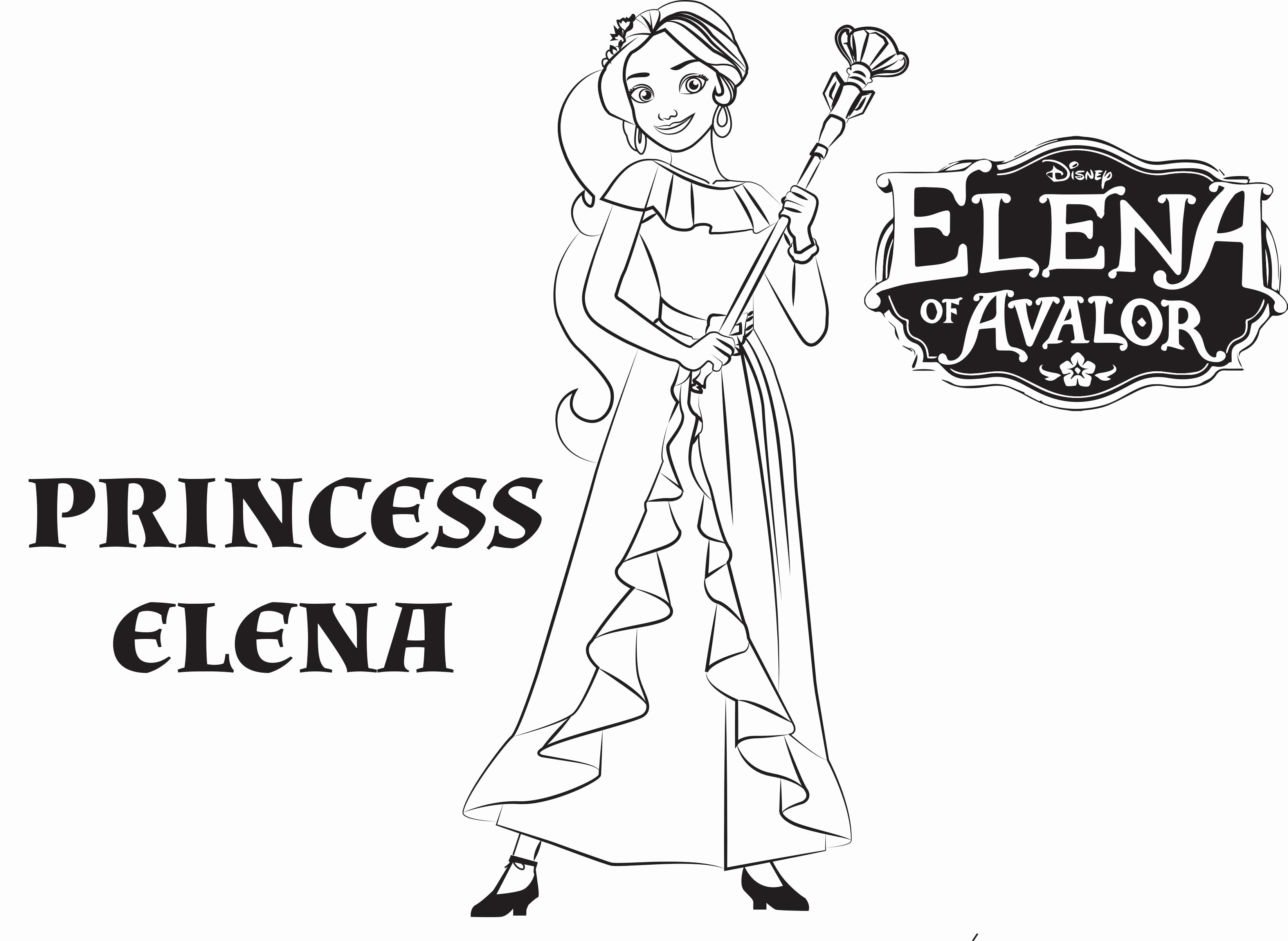 elena of avalor coloring pages to print Download-Elena Avalor Coloring Pages Free Elena Avalor Coloring Pages to Print New Princess Coloring Best 12-n