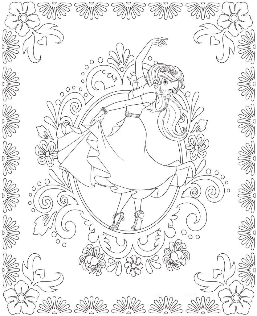 elena of avalor coloring pages to print Collection-Elena of Avalor Coloring Pages Disney Coloring Pages Pinterest 8-b