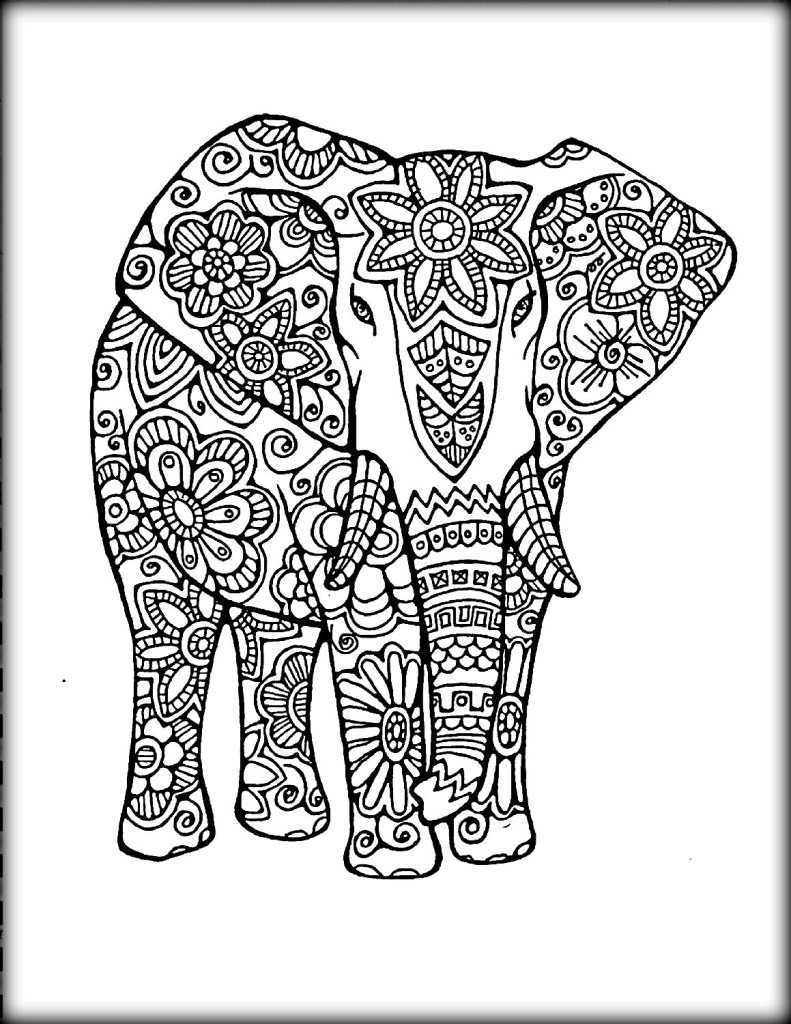 23 Elephant Mandala Coloring Pages Download Coloring Sheets